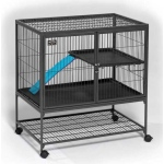 "MidWest Homes for Pets Ferret Nation Single Unit with Stand Platinum: Gray Hammertone, 36"" x 25"" x 38.5"""