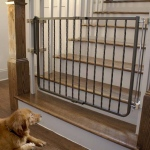 "Cardinal Gates Wrought Iron Decor Hardware Mounted Pet Gate Bronze 27"" - 42.5"" x 1.5"" x 29.5"""