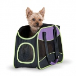 "K&H Pet Products Easy Go Pet Carrier Purple/Black/Lime Green 16.54"" x 7.87"" x 11.02"""