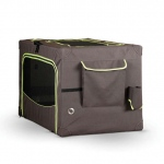 "K&H Pet Products Classy Go Soft Pet Crate Large Brown/Lime Green 35.83"" x 24.02"" x 22.83"""