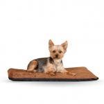 "K&H Pet Products Ortho Thermo Pet Bed Medium Chocolate / Coral  17"" x 27"" x 3"""