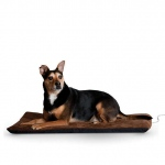 "K&H Pet Products Ortho Thermo Pet Bed Extra Large Chocolate / Coral 33"" x 43"" x 3"""