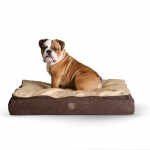 "K&H Pet Products Feather Top Ortho Pet Bed Small Chocolate / Tan 20"" x 30"" x 6.5"""