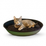 "K&H Pet Products Mod Sleeper Cat Bed Small Green / Black 18.5"" x 14"""