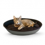 "K&H Pet Products Mod Sleeper Cat Bed Small Gray / Black 18.5"" x 14"""