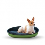 "K&H Pet Products Mod Sleeper Cat Bed Medium Green / Black 23"" x 16"""