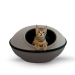 "K&H Pet Products Mod Dream Pods Cat Bed Gray / Black 22"" x 22"" x 11.5"
