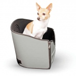 "K&H Pet Products Mod Pet Safety Seat Gray 15"" x 15"" x 15"""