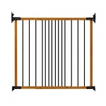 "Kidco Designer Angle Mount Wall Mounted Safeway Pet Gate Oak 28"" - 42.5"" x 31"""