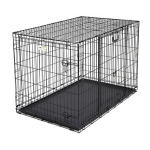 "Midwest Ovation Double Door Crate with Up and Away Door Black 37.25"" x 23"" x 25"""