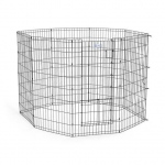 "Midwest Life Stages Pet Exercise Pen with Split Door  Black 24"" x 24"""