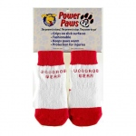 "Woodrow Wear Power Paws Advanced Extra Extra Extra Large Red / White Strip 3.5"" - 3.88"" x 3.5"" - 3.88"""