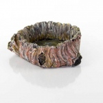 "BioBubble Decorative Stump Bowl Large 3.75"" x 3.75"" x 1.35"""