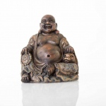 "BioBubble Decorative Laughing Buddha 4.25"" x 3.75"" x 4.5"""