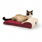 "K&H Pet Products Ultra Memory Chaise Pet Lounger Red 14""  x 22"" x 4"""