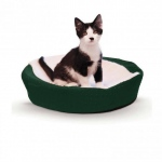 "K&H Pet Products Ultra Memory Round Pet Cuddle Nest Green 19"" x 19"" x 3"""
