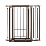 "Richell Hands-Free Pressure Mounted Pet Gate Coffee Bean 28.3"" - 37.2"" x 8.7"" x 36.6"""