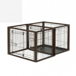 "Richell Flip To Play Pet Crate Medium Brown 41.7"" x 29.5"" x 31.1"""