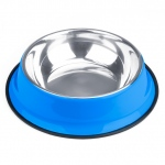 72oz. Blue Stainless Steel Dog Bowl