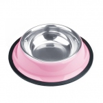 4oz. Pink Stainless Steel Dog Bowl
