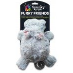 Spunky Pup Furry Friends Hippo with Ball Squeaker