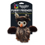 Spunky Pup Furry Friends Owl with Ball Squeaker