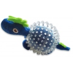 Spunky Pup Furry Friends Dino in Clear Spikey Ball