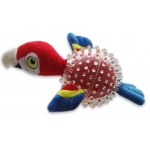 Spunky Pup Furry Friends Parrot in Clear Spikey Ball