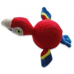 Spunky Pup Furry Friends Parrot with Ball Squeaker