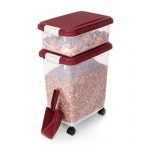"BioBubble Pet Food Bins and Scoop Light Red 16.5"" x 10.8"" x 25.1"""