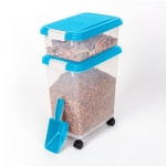 "BioBubble Pet Food Bins and Scoop Light Blue 16.5"" x 10.8"" x 25.1"""
