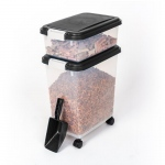 "BioBubble Pet Food Bins and Scoop Black  16.5"" x 10.8"" x 25.1"""