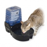 "K&H Pet Products CleanFlow Cat Ceramic Fountain with Reservoir 170 oz. Black 11.5"" x 9"" x 10.5"""