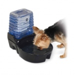 "K&H Pet Products CleanFlow Dog Ceramic Fountain with Reservoir 170 oz. Small Black 11.5"" x 9"" x 10.5"""