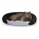 "K&H Pet Products Self-Warming Bolster Bed Gray/Black 14"" x 17"" x 5"""