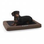 "K&H Pet Products Comfy n' Dry Indoor-Outdoor Pet Bed Small Chocolate 18"" x 26"" x 2.5"""