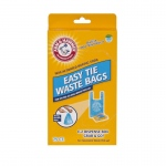 "Petmate Arm and Hammer Easy-Tie Waste Bags 75 count Blue 1.5"" x 4.5"" x 8.5"""