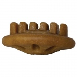 "Starmark Dog Everlasting Treat with Dental Ridges Chicken Medium Brown 2.5"" x 2.5"" x 1"""