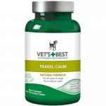 "Vet's Best Dog Travel Calm Supplement 40 Tablets Green 2.5"" x 2.5""x 4.94"""