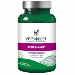 "Vet's Best Dog Aches and Pains Supplement 50 Tablets Green 2.5"" x 2.5""x 4.94"""