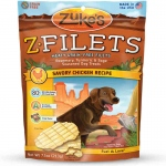 Zuke's Z-Filets Select Grain Free Dog Treat Grilled Chicken 7.5 oz.