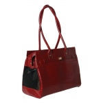 Bark N Bag Exotic Tote: Patent Croco, Red