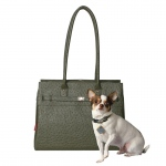 Bark N Bag Exotic Tote: Ostrich, Olive