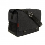 Bark N Bag Outback Messenger: Organic Denim, Black