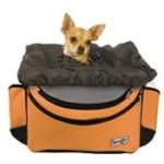 Snoozer Sporty Bike Basket: Orange/Blk/Grey