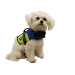 Paws Aboard Dog Life Jacket: Blue & Yellow, Neoprene, XXSmall