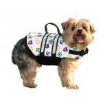 Paws Aboard Dog Life Jacket: Nautical, Small