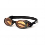 Doggles ILS Dog Sunglasses Medium Black / Orange