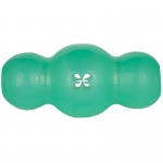 "Starmark Treat Crunching Multiball Dog Toy Medium Green 4.2"" x 2.2"" x 2.2"""