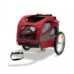Solvit HoundAbout Classic Pet Bicycle Trailer: Steel, Red, Medium